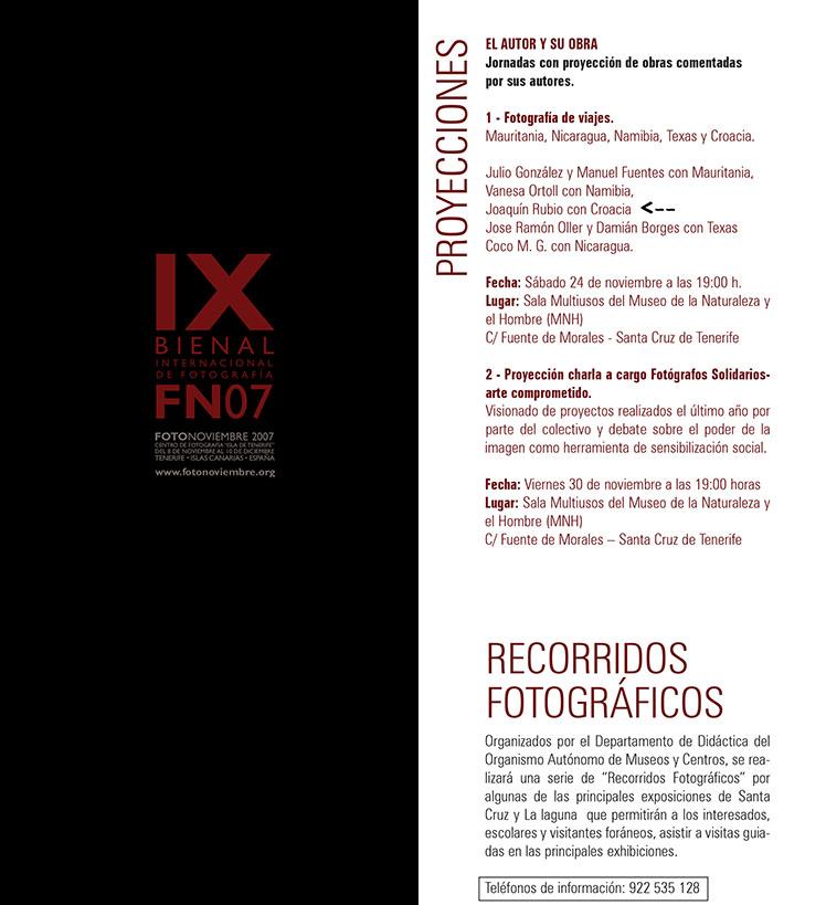 Fotonoviembre fn07 proyección de obras comentadas por sus autores Joa Rubio fotografía de viajes Croacia